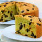 Chia sẻ cách làm bánh bông lan nho khô
