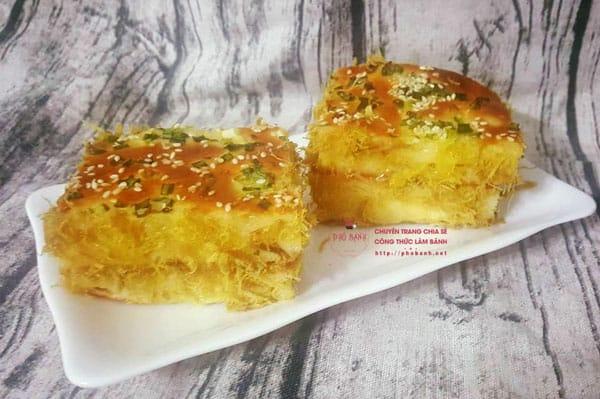 Hướng dẫn cách làm bánh mì chà bông sốt bơ