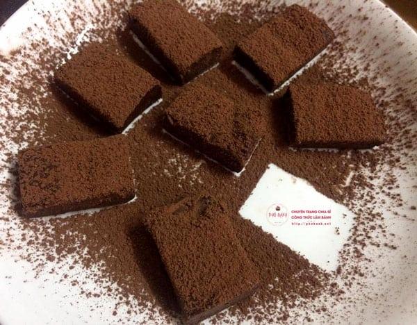 Hướng dẫn làm kẹo Nama Chocolate ngon