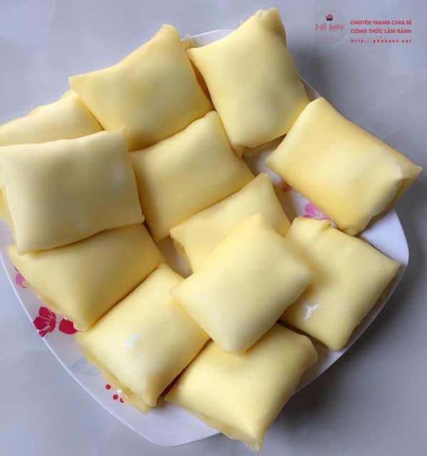 Hướng dẫn cách làm bánh Crepe Sầu Riêng ngon