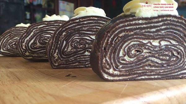 Hướng dẫn cách làm bánh Crepe Socola ngàn lớp