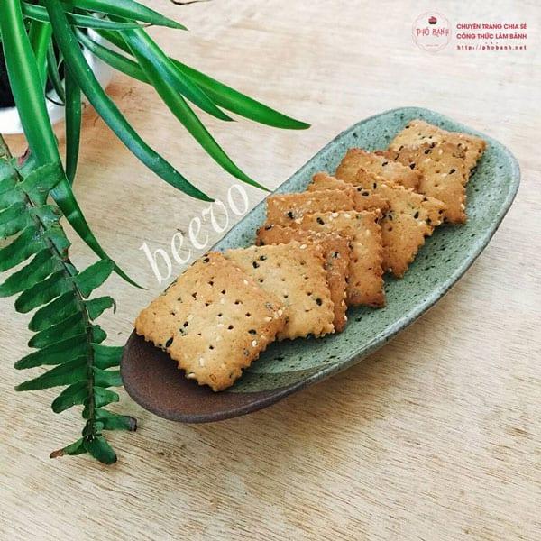 Cách làm bánh quy mè giòn tan