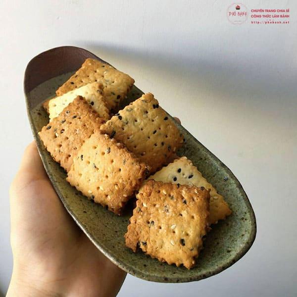Hướng dẫn cách làm bánh quy mè giòn