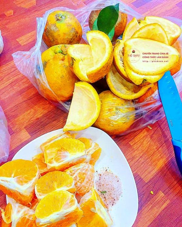 Chọn cam lấy vỏ làm mứt