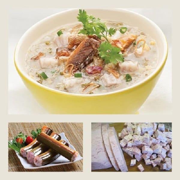 Món cháo lươn khoai môn cà rốt