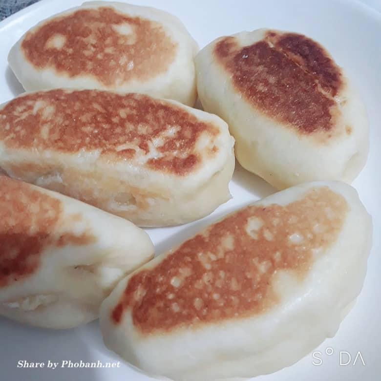 Bánh mì nhân sữa phô mai áp chảo